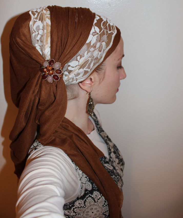The Princess Wrap! This  would be  good for Hijabi if  it was worn over a neck covering, or you wrapped one of the scarf ends