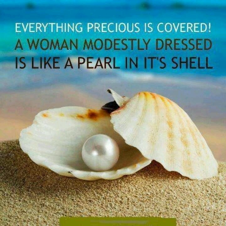 Absolutely Right! A pearl is a great symbol for modesty.