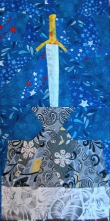 Disney Quilt, Free Paper piecing, The Sword in the Stone