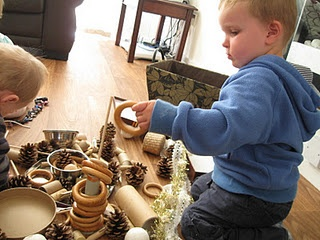 Heuristic Play I like the loose parts they use, however, I would probably only introduce three or four different materials at a time and add on as time went along so that the children could more fully explore each individual material.