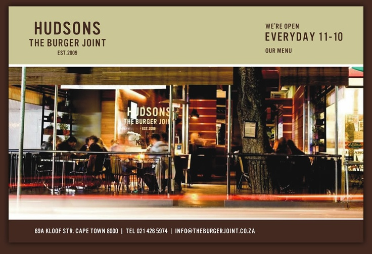 Hudson's in Cape Town--Great veggie burgers!