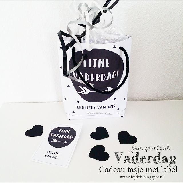 DIY Vaderdag Cadeau tasje met label..