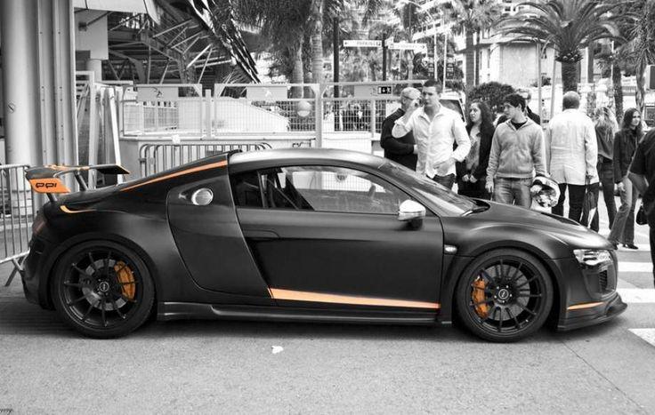 Matte black Audi R8 Razor GTR