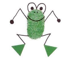 Thumbprint frog