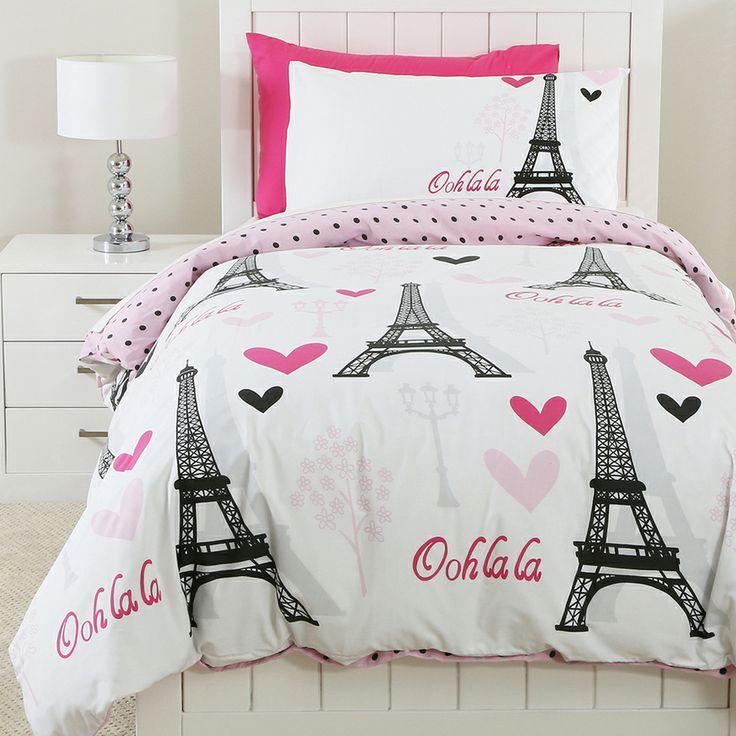 Pt Sleepy Kidz Ooh La La Qcs   Quilt Covers and Accessories   Bedroom    Categories. 110 best Paris bedroom images on Pinterest