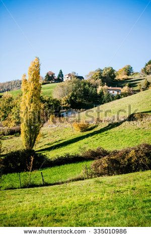 country autumnal landscape - stock photo