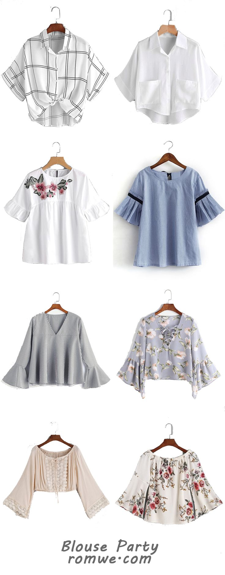 Fashion Blouses Party - romwe.com
