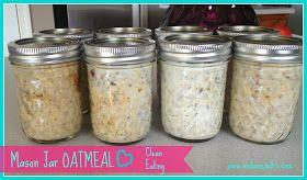 Mason Jar Overnight Oatmeal several variations