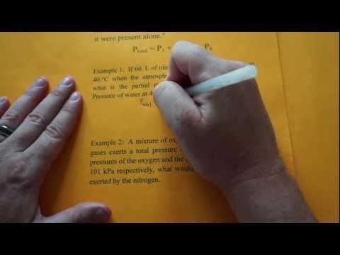 ▶ Partial Pressure Part 1- Daltons Law - YouTube