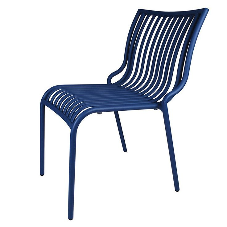 Bastille Aluminium Garden Chair in Blue – Allissias Attic