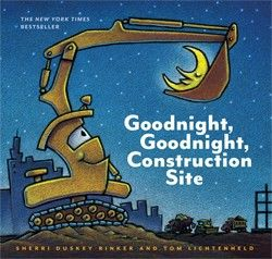 My son loves saying goodnight to all of the trucks.  Great rhyme scheme!Duskey Rinker, Bedtime Stories, Sherri Duskey, Construction Site, Goodnight Construction, Kids Book, Little Boys, Children Book, Pictures Book
