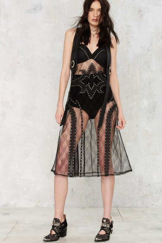 Cody Sheer Studded Dress - Rodeo Revival