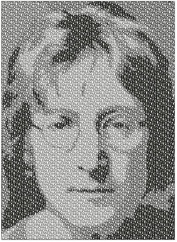 John Lennon,Typeography Illustration.