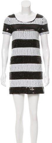 Rachel Zoe Striped Sequin Dress