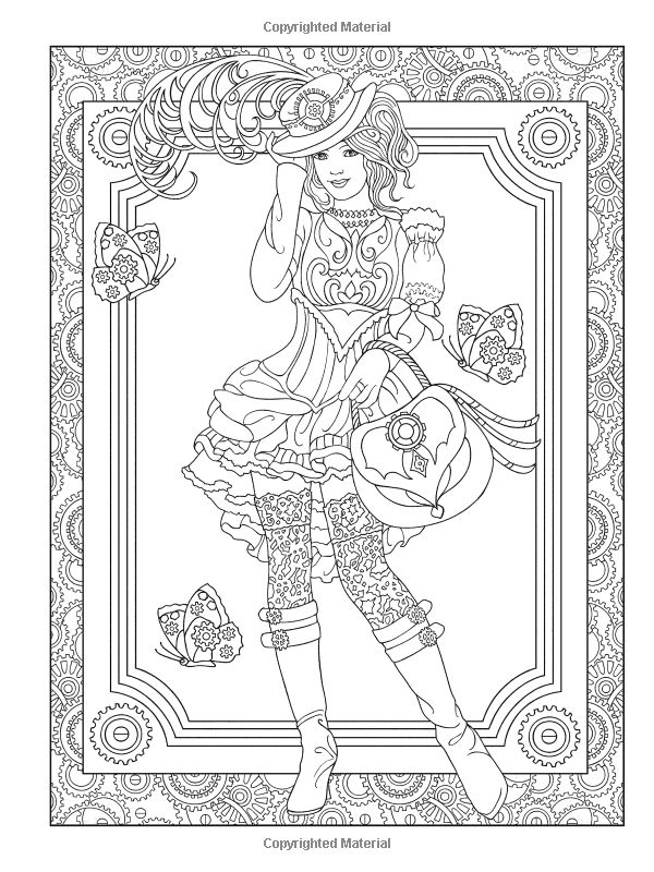 creative haven steampunk fashions coloring book adult coloring marty noble 0800759797486