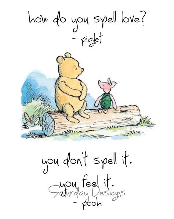 Set of 4 Classic Winnie the Pooh Quotes 5x7 by SaturdayDesigns