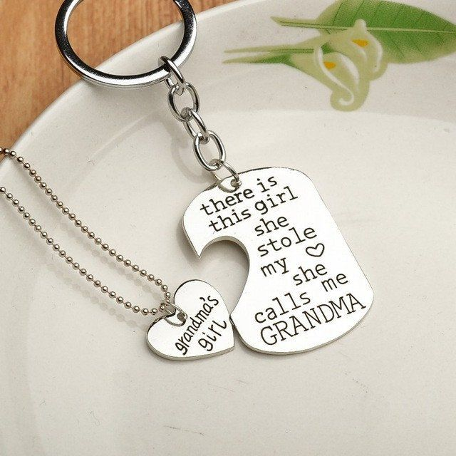Stole my Heart Keychain with Matching Necklace - 2 Pcs – Free Shipping   #grandma   #Grandparents