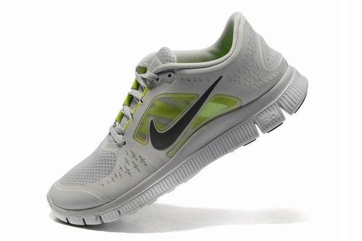 LyseGrey Groen zwarte mannen Nike Free Run 3 5.0 Mesh schoenen