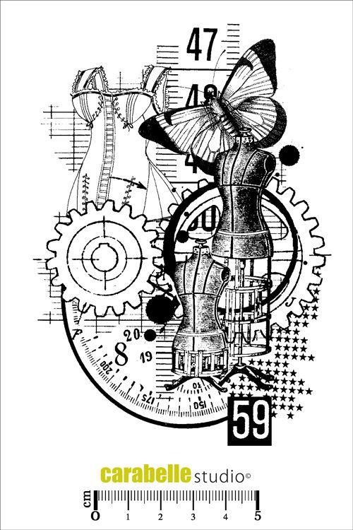 Acheter tampon Mannequin- Tampon scrap ArtStamp - Carabelle Studio