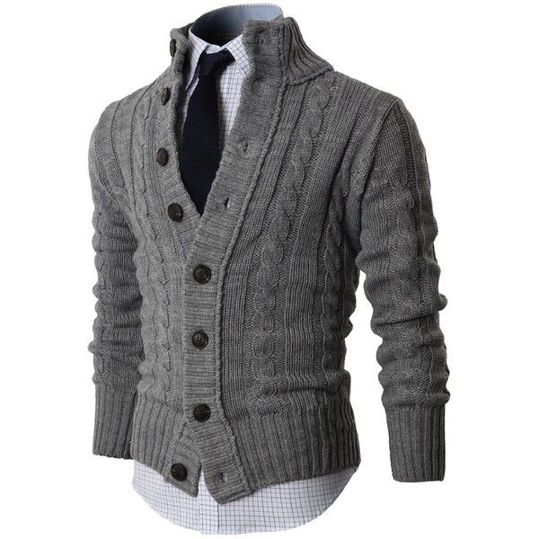 H2H Mens Premium Various Styles Twisted Knit Cardigan Sweater with... ($57) ❤ liked on Polyvore featuring men's fashion, men's clothing, men's sweaters, men, mens tops, sweaters, tops, mens cardigan sweaters, mens button up sweater and mens button down cardigan sweaters