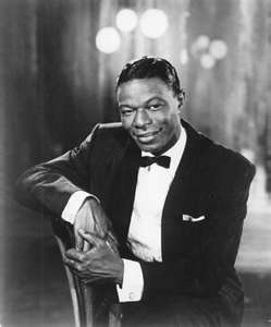 """March 17, 1919: Pioneering music and TV star Nat """"King"""" Cole was born. He shares a birth date with: golf legend Bobby Jones (b. 1902); Shemp Howard (b. 1938); actors Rob Lowe (b. 1964), Gary Sinise (b. 1955)  and Kurt Russell as well as ballet great Rudolph Nureyev (b. 1938).Musicians, Mona Lisa, Nat King Cole, Natkingcole1E1Jpg 576692, Singer, Favorite, Christmas Songs, People, Black"""