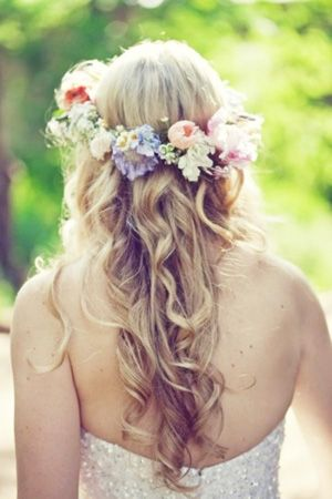 Pastel Floral Crown. Pinned by Afloral.com from http://www.bridesofadelaide.com.au/index.php?blog_archive=6_p ~Perfect for the spring bride. Find pastel silk flowers at Afloral.com for your DIY floral crown.