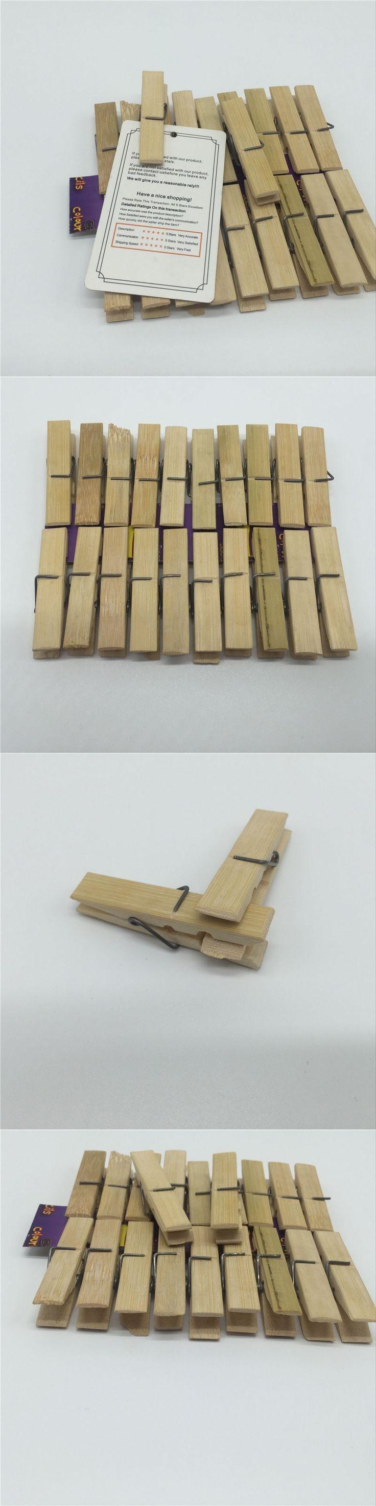 20PCS  bamboo wooden laundry peg clothespin Oizumi Laundry Clothes Pins  regular size