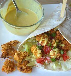 crispy-chicken-wraps zonder pakjes en zakjes