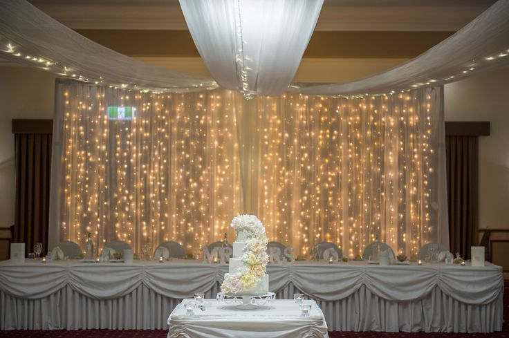 Fairy Light Backdrop at Arundel Hills Country Club - Grand Ballroom