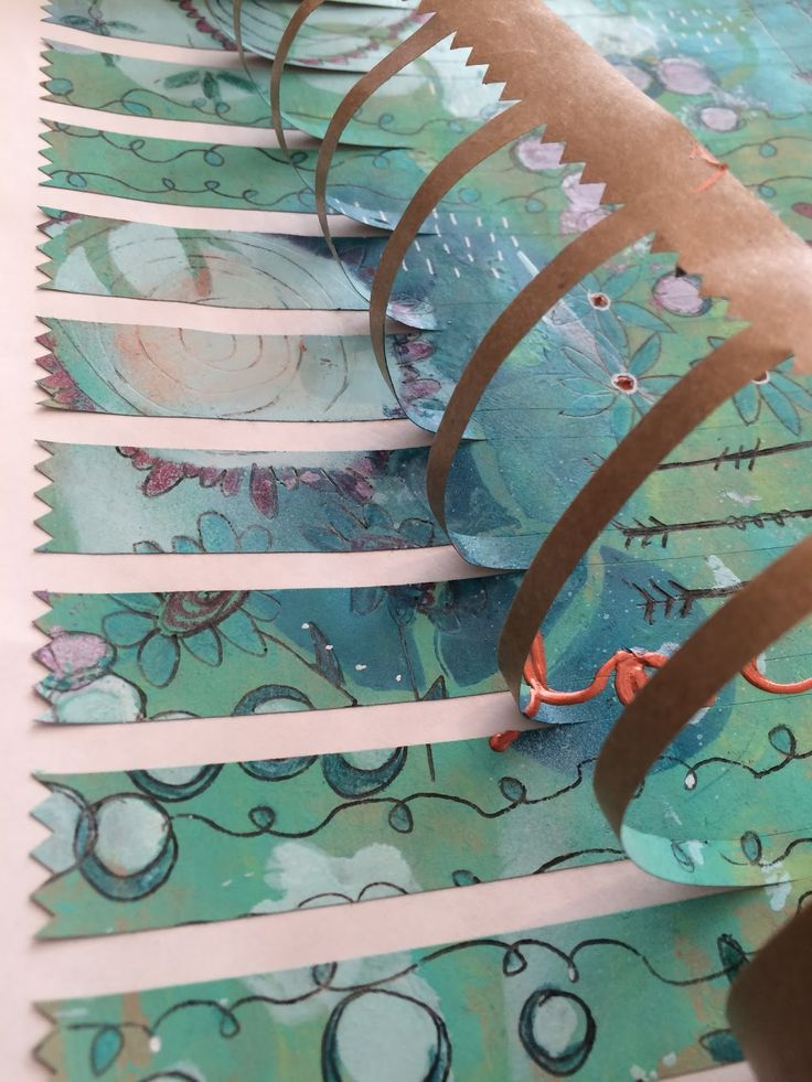 PRINT & DOODLE ON SHIPPING LABELS!!   StencilGirl Products tutorial by Guest Designer Carla Devine of heART Journal Magazine