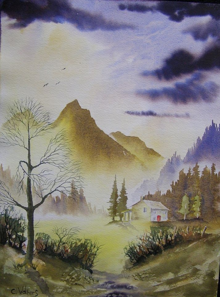 Mountain Retreat 15 x 11 Watercolour