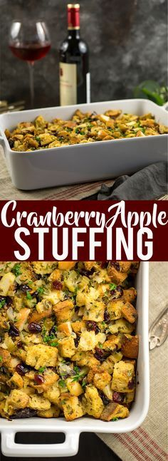 Cranberry Apple Stuffing recipe | Fox and Briar