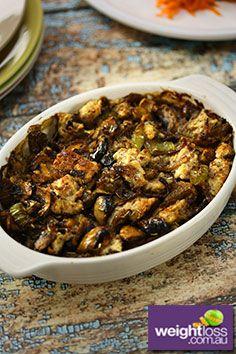 Mushroom & Herb Stuffing Recipe. #MushroomRecipes #DietRecipes #StuffingRecipes #WeightLossRecipes weightloss.com.au