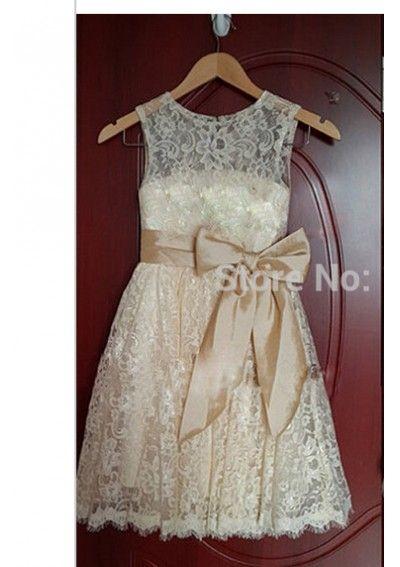 Wedding dress online shop - New Lace Flower Girl Dress A Line Wedding Party Dress Pageant Dress for Wedding
