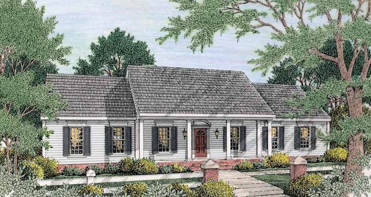 16 best maybe house images on pinterest home plans for Colonial ranch house plans