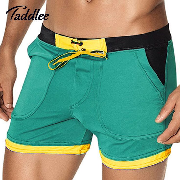 Taddlee Brand  Men's Swimwear Swim Beach Board shorts swim trunks Swimsuits Bathing Swimming Boxer Surf Wear Gay