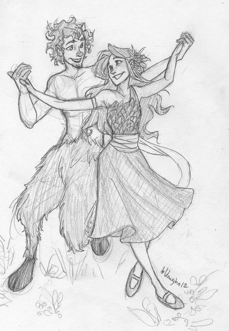 I know its not, but this makes me THINK of dear Mr Tumnus and Queen Lucy from Narnia ♡ Art by Burdge Bug