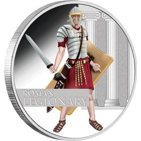 2010 Roman Legionary 1oz Silver soldier Proof Coin Great Warrior  coin , perth mint coins, bullion coins , silver  coins