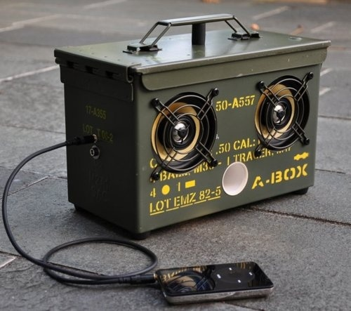 Ammo can speakers