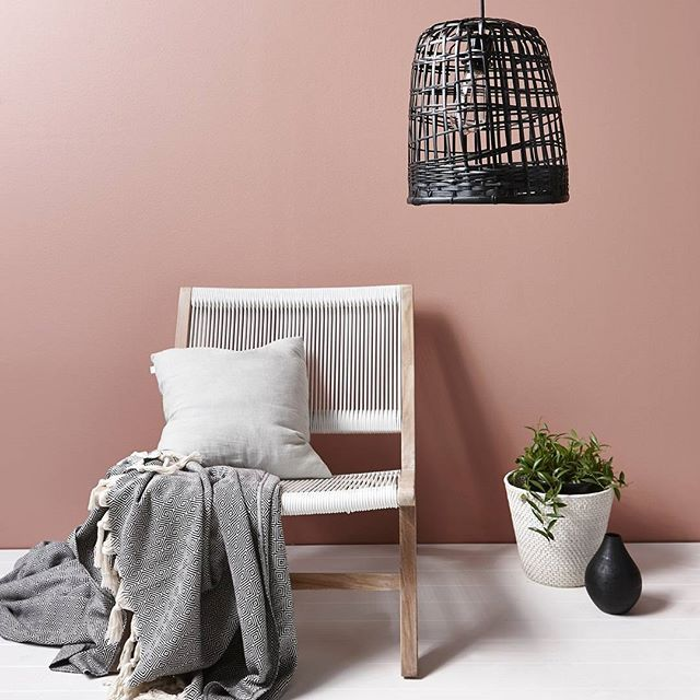 A pink wall makes us so happy - especially this dirty blush tone. Resene Bonanza…