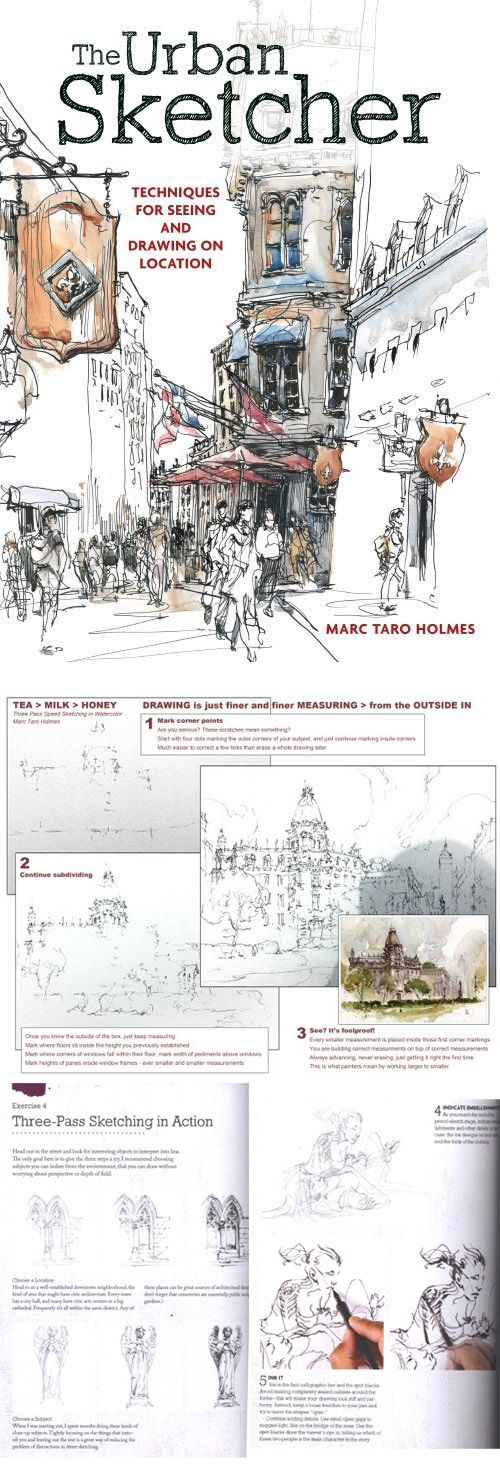 The Urban Sketcher: Techniques for Seeing and Drawing on Location by Marc Taro Holmes