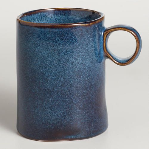 One of my favorite discoveries at WorldMarket.com: Indigo Reactive Glaze Mugs, Set of 2