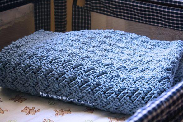 Basket Weave Tutorial Crochet : Free crochet basket weave baby blanket pattern tutorial