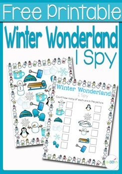 This Winter Wonderland I Spy is the perfect introduction to the winter season for your preschoolers! Practice counting, matching, and visual discrimination while building language skills to familiarize them with words that they will be hearing during the winter season.