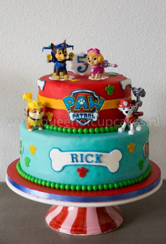 Paw Patrol Taart - Queen of Cupcakes