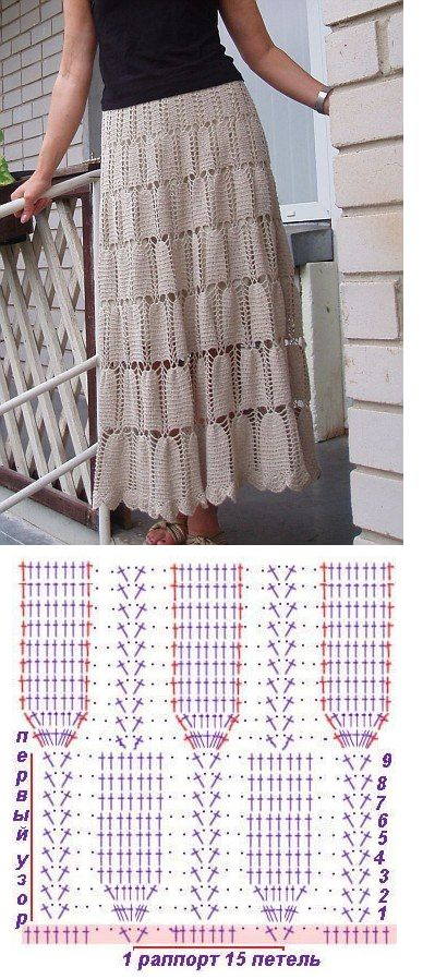 crochet skirt - simple and elegant and you can make it as open and as long as…