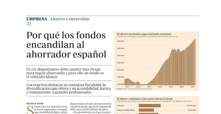 Los fondos de inversión siguen siendo la inversión preferida por los inversores españoles. El ¿por qué? en nuestra última colaboración con el diario ABC.