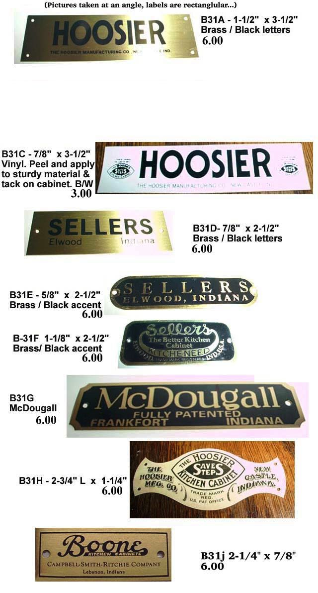 8 best images about hoosier cabinet labels on pinterest - Labels for kitchen cabinets ...