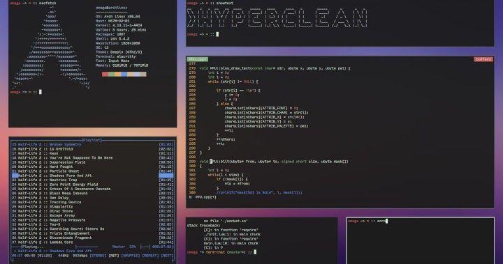 أفضل قائمة مدير نوافذ لينكس Linux Window Manager Weather Screenshot