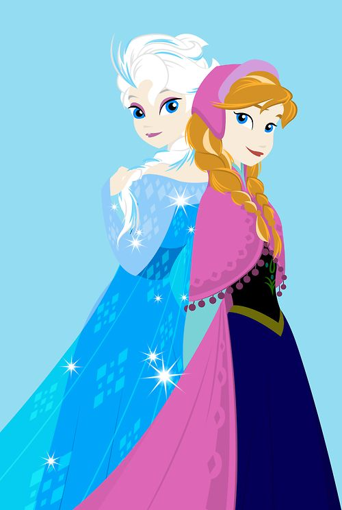 Elsa and Anna. They're so cute.